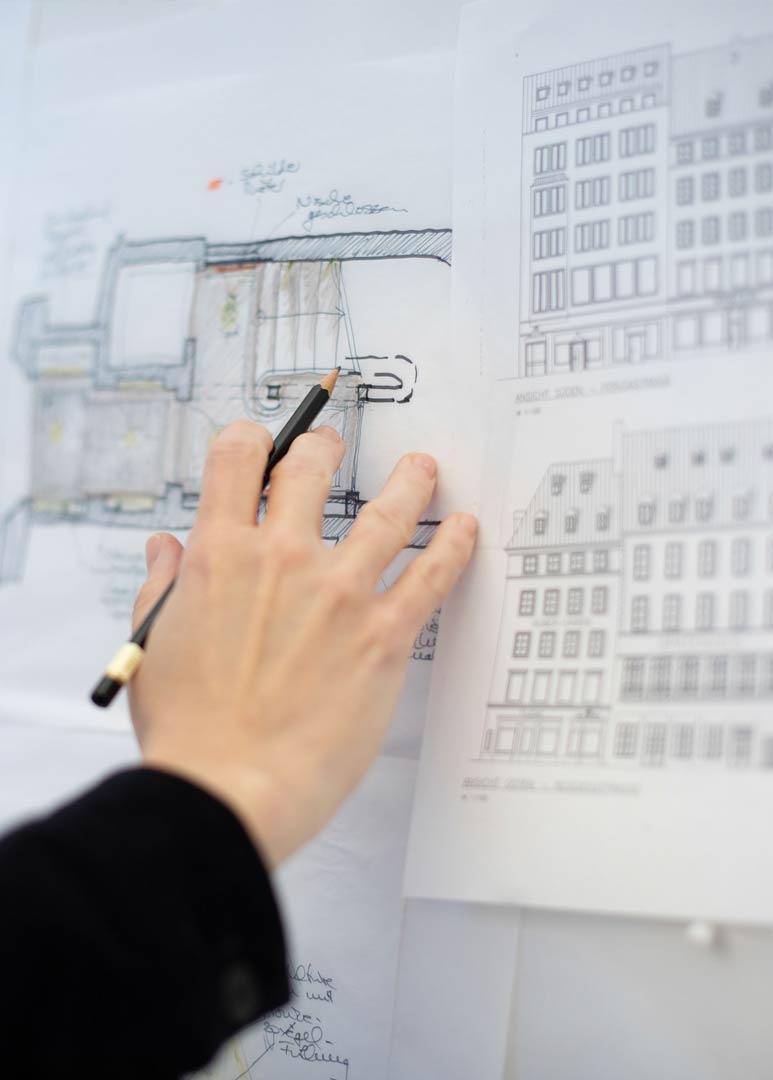Gabriela Raible innenarchitektur Corporate Interior Architecture Skizzen