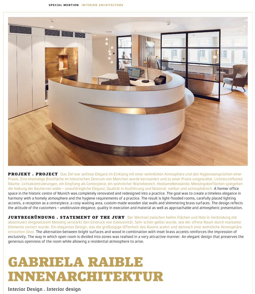German Design Award Gabriela Raible Innenarchitektur